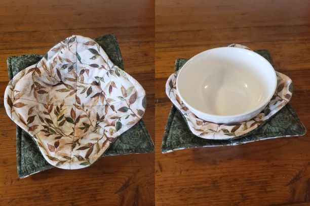 Bowl Cozy Set - Leaves (Brown & Green) - (Bowl Not Included)