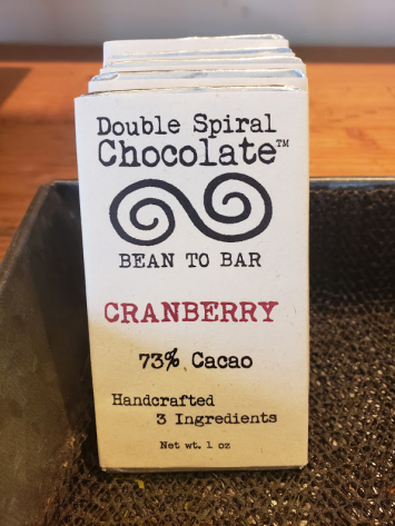 Double Spiral Chocolate Bar - Cranberry
