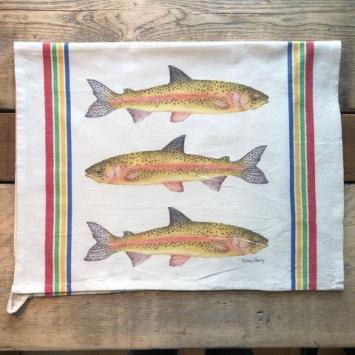 Flour Sack Kitchen Towel - Salmon