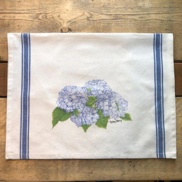 Flour Sack Kitchen Towel - Hydrangea