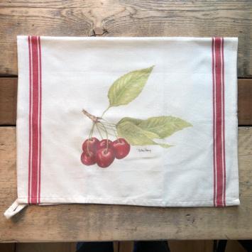 Flour Sack Kitchen Towel - Cherries