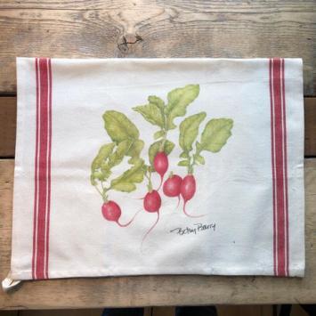 Flour Sack Kitchen Towels - Radishes