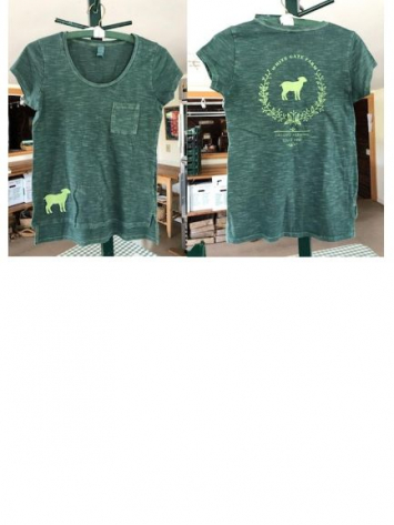 WGF T-Shirt - Womens - Light Green on Green - Size Large