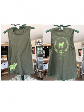 WGF T-Shirt - Sleeveless - Womens - Light Green on Green - Size Medium