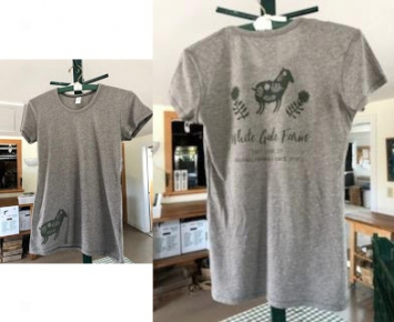 WGF T-Shirt - Vintage - Womens - Green on Grey - Size Large