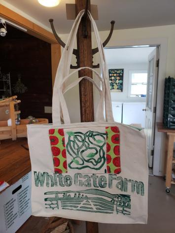 WGF Canvas Tote Bag (Scapes w/ Tomato Border)