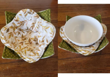 Bowl Cozy Set - Leaves (Golden) - (Bowl Not Included)