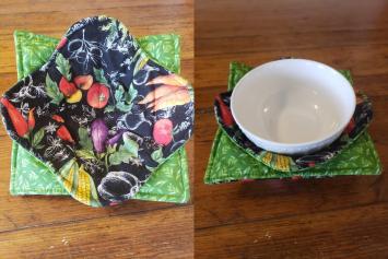 Bowl Cozy Set - Vegetables (Black) - (Bowl Not Included)