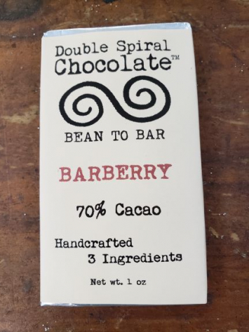 Double Spiral Chocolate Bar - Barberry