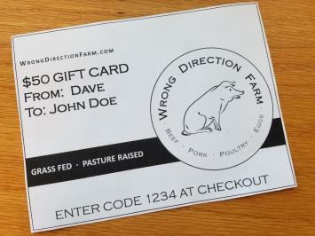 $50 Digital Gift Card