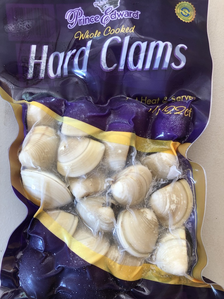 Clams, fully cooked