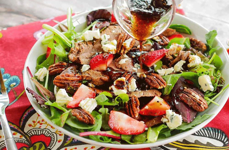 Flank Steak Salad with Strawberries