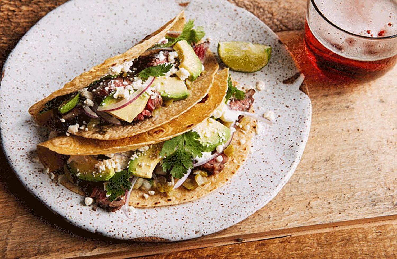 Jalapeño-Lime Marinated Skirt Steak Tacos