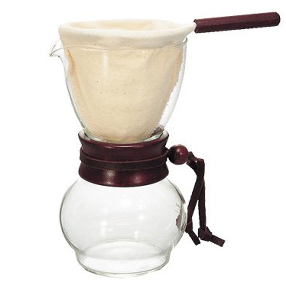 Hario Cloth Drip Pot Pour Over Coffee Maker Wood DPW 1 | eBay