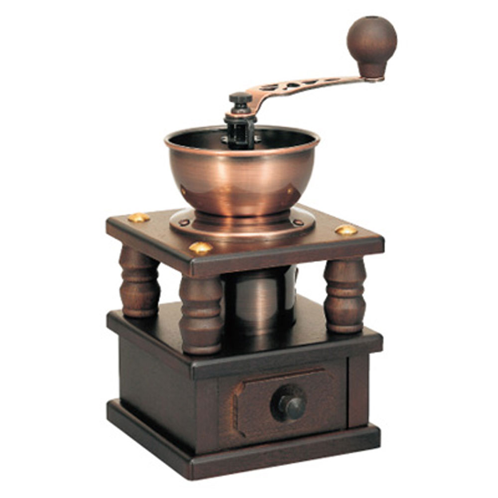 Hario Roman N Ceramic Coffee Burr Grinder Hand Crank Wood ...
