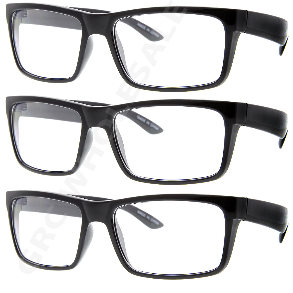 c39d5bcb94c2 3 Pairs NERD HIP Smart Interview Black FAKE Glasses Square fashion ...