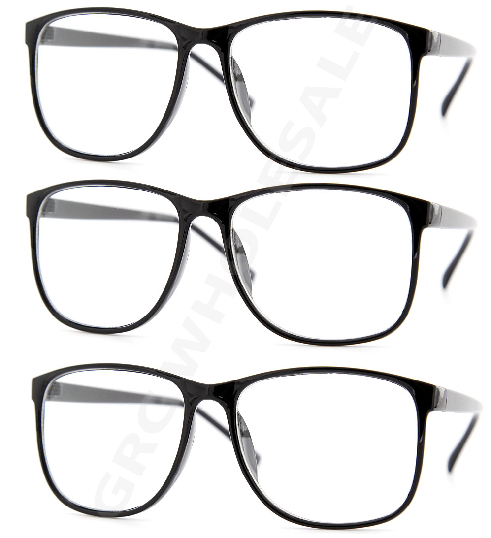 3 Pairs NERD Smart Interview Black FAKE Glasses Thin Frame ...