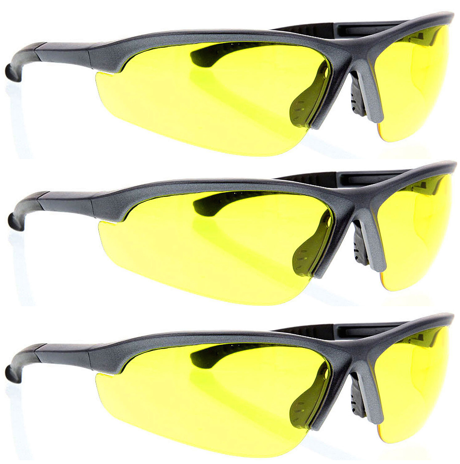 3 Pairs lot CLEAR SAFETY GLASSES Z87 goggles protective eyewear wholesale hega