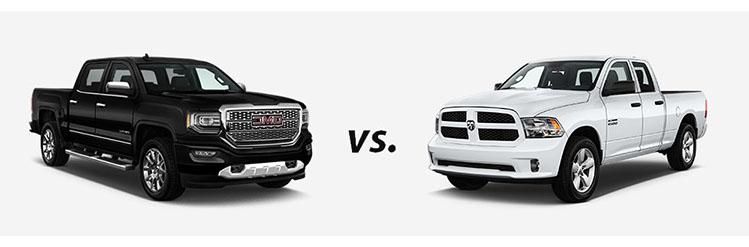2018 GMC Sierra vs. 2018 RAM 1500