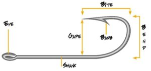 Fly tying hook fishing - base diagram