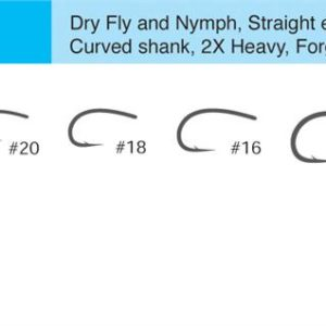 Tiemco 2488H (TMC2488H) Curved Fly Tying Hooks