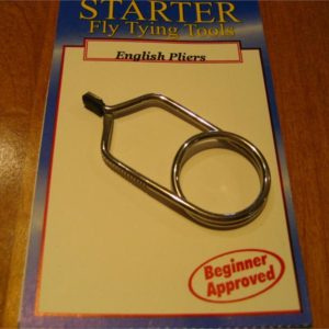 Starter English Hackle Pliers, Large, Rubber Tip