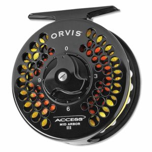 Orvis Access Mid Arbor Reel fly fishing reels black