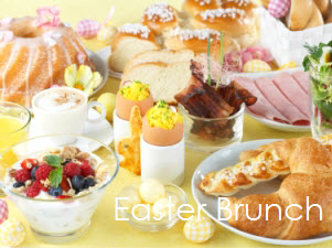 Easter brunch with text