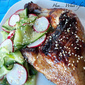 Sticky Glazed Grilled Chicken with Cucumber Salad