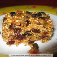 Healthy No Dairy Oat, Seeds, Nuts and Fruit Bars