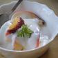 Peaches and Geranium-Scented Cream