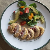 Turkey Escalopes with Cranberries and Coconut