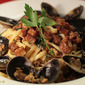 Portuguese Sausage and Clam Pasta