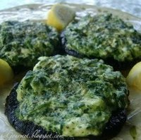 Creamed Spinach & Cream Cheese Stuffed Portobello Mushrooms!!!
