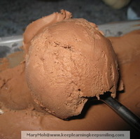 Easy Chocolate Cheese Ice Cream For A Little Friend
