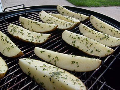 Simply Smoked Potato Wedges