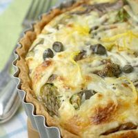 Asparagus, anchovy, lemon and caper quiche - and a book giveaway