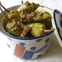 A Few Healthy Pickle Recipes – Green Chili Pepper with Chickpea Flour and Spices