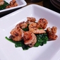 Spicy Shrimp on Spinach