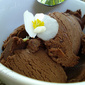 Rich dark chocolate ice cream