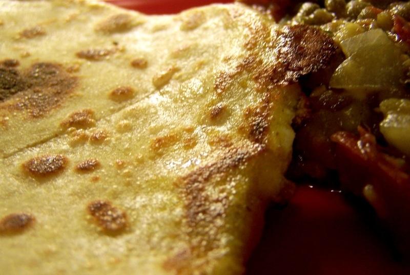 Paneer carrot paratha/stuffed flat bread
