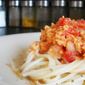 Vegan Bolognese Spaghetti