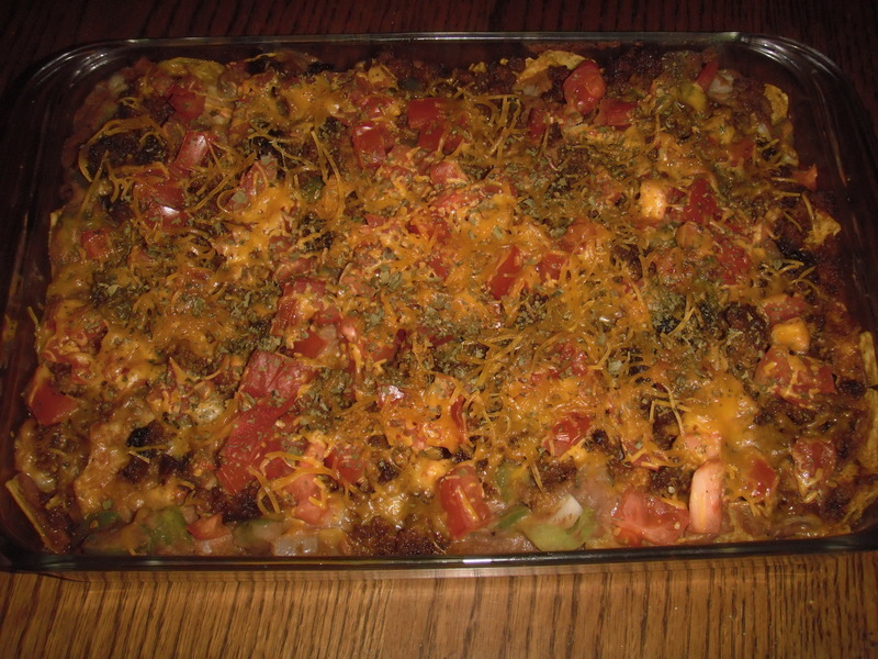 TACO CASSEROLE,DIP OR FOR TACO THE NEXT DAY