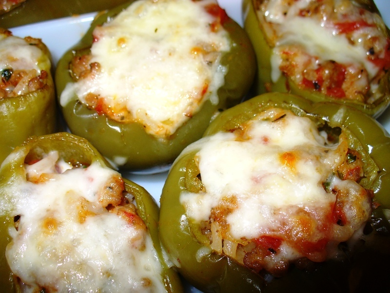 Italian Sausage Stuffed Peppers II