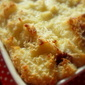 Raspberry Feather Bread and Butter Pudding