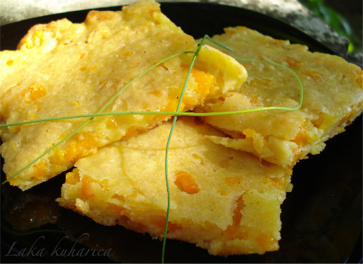 Pumpkin flat bread
