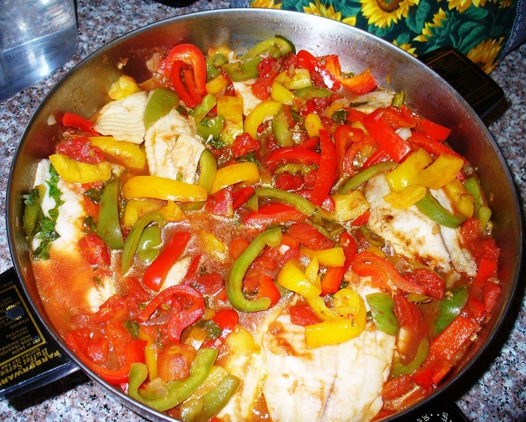 Tilapia with Sweet Peppers