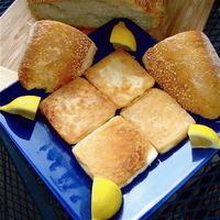 Super Fast Fried Cheese Appetizer - Saganaki