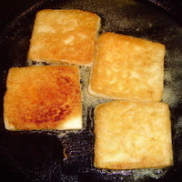 Super Fast Fried Cheese Appetizer - Saganaki