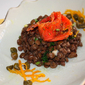 Life is full of contrasts – Lentil and marinated smoked salmon salad